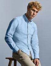 Men`s Long Sleeve Tailored Button-Down Oxford Shirt