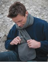 Zip-Pocket Fleece Scarf